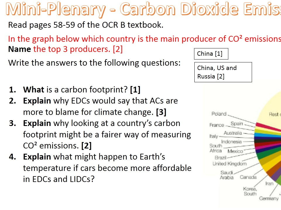 NEW OCR B Enquiring Minds Syllabus Year 9 The 7 Impacts of Climate Change  BUNDLE