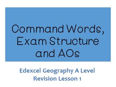 Edexcel A Level Geography Command Words Exam Structure and AOs - Revision Lesson 1