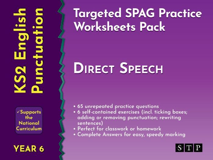 Direct Speech Punctuation Worksheets