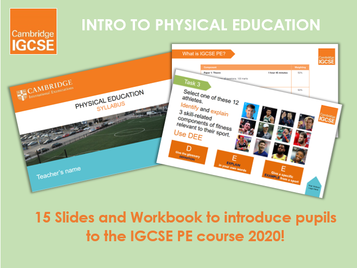 Introduction to IGCSE Physical Education - FREE Ppt & Workbook