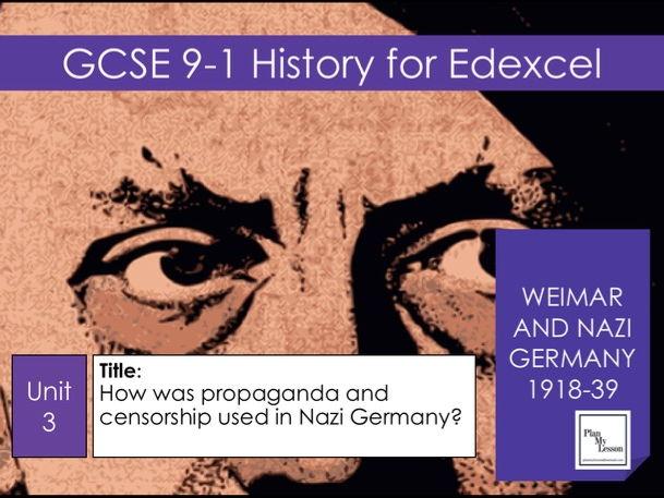 Edexcel GCSE Weimar & Nazi Germany: L32 How was propaganda and censorship used in Nazi Germany?
