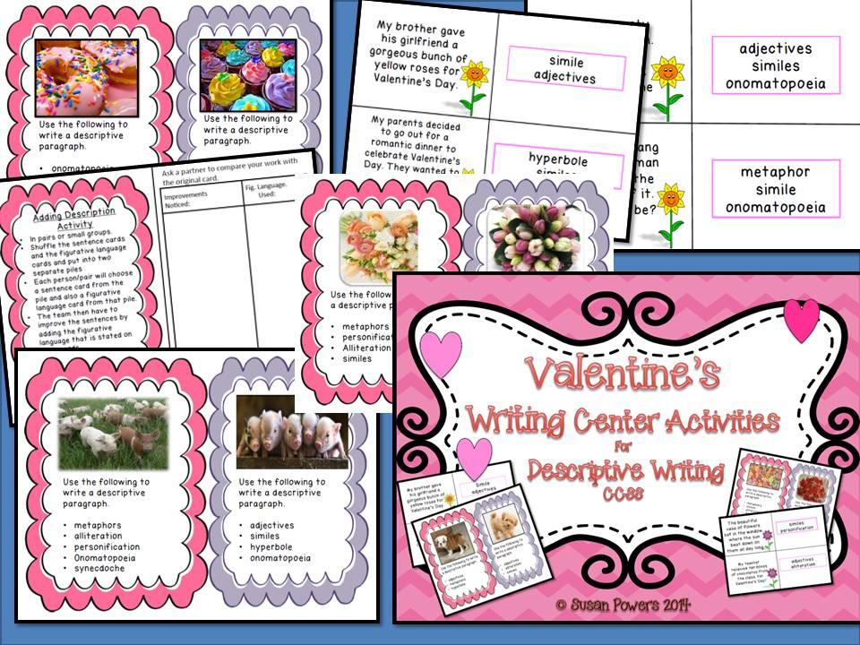 Valentine's Day Creative Writing  Workshop Activities