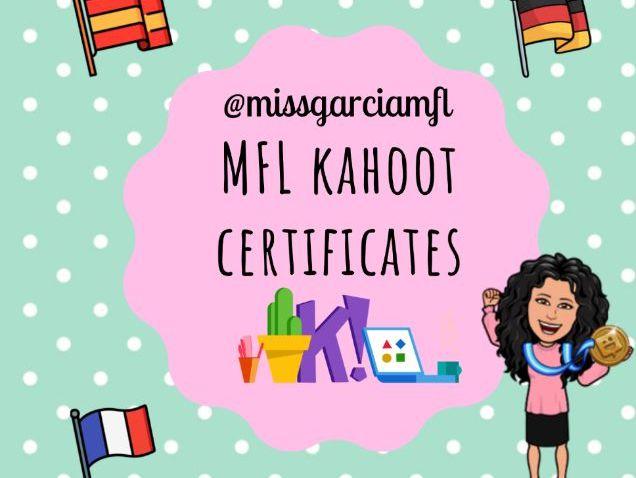 MFL Kahoot Certificates