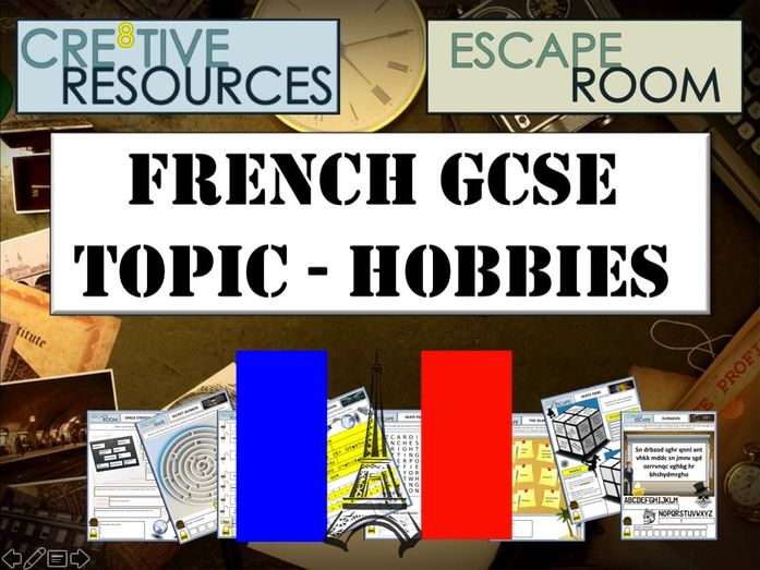 ESCAPE ROOM FRENCH GCSE MFL