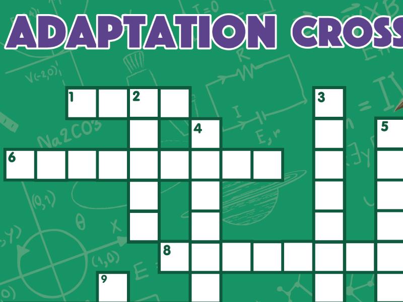 Animal Adaptation Crossword
