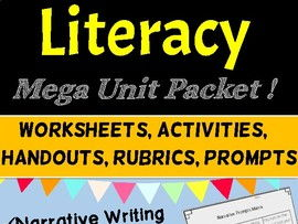 MEGA PACK of Literacy Unit Activities: Narrative, Persuasive Writing, Spelling and Grammar