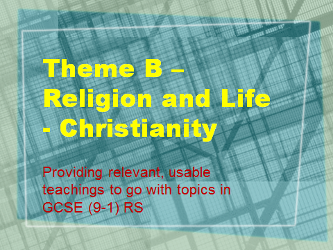 AQA GCSE RS (9-1) Relevant teachings for Theme B - Religion and Life - Christianity