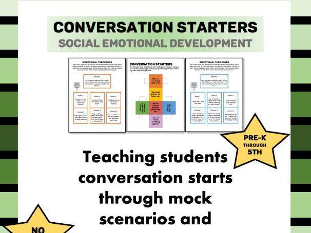Conversation Starters Scenarios and Game