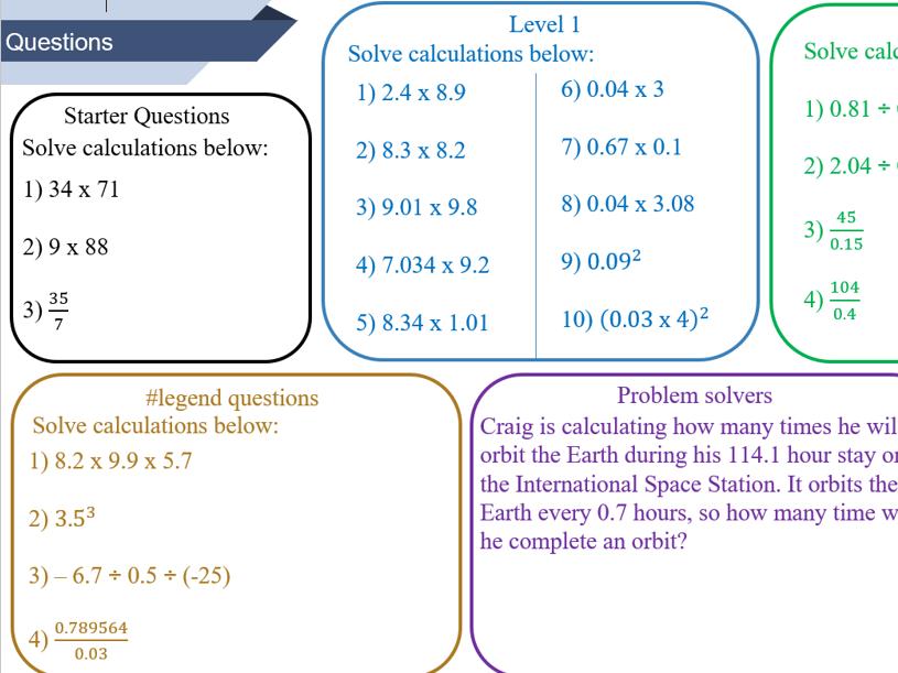 Multiplying and dividing decimals worksheet