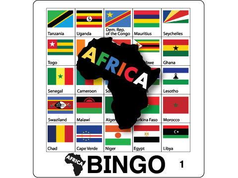 Flag Bingo - Africa