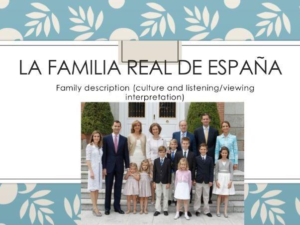 La familia real (distance learning)