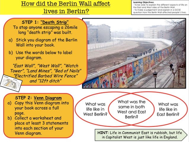 Cold War How did the Berlin Wall affect lives in Berlin?