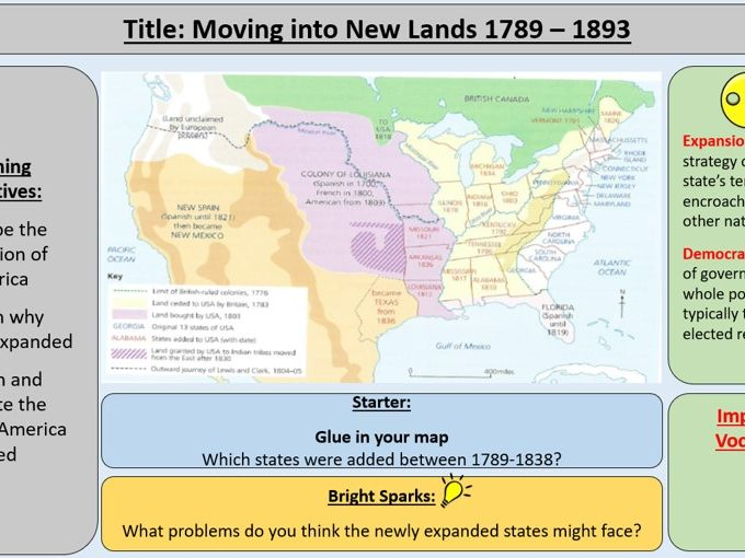 The Making of America 1789-1900 Section 1: America's Expansion