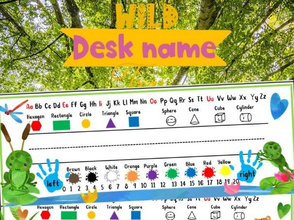 Wild Printable Desk Name Tags