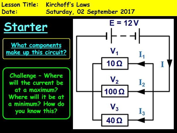A-Level Physics: Kirchhoff's Laws