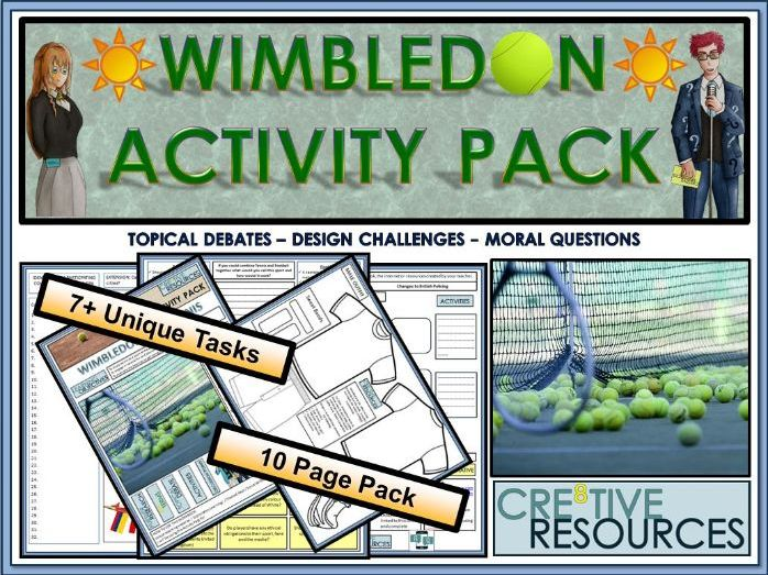 Wimbledon 2018 Activity Pack