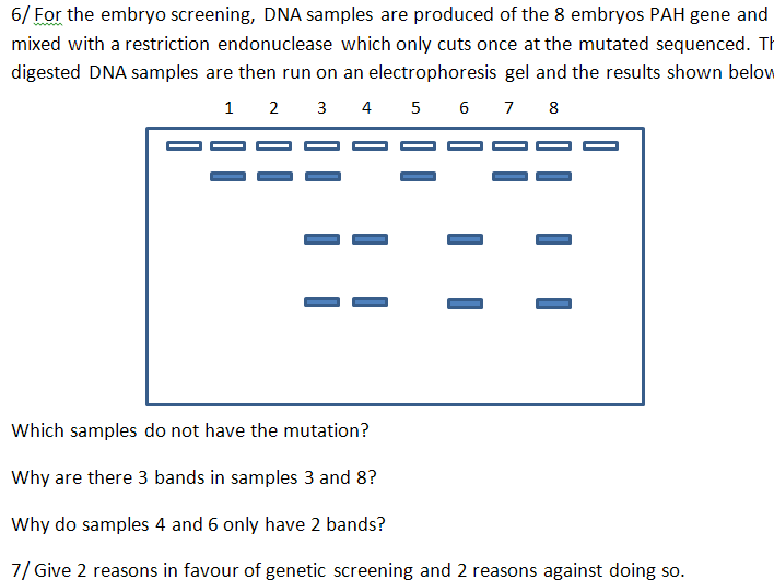 Genetic Screening with questions
