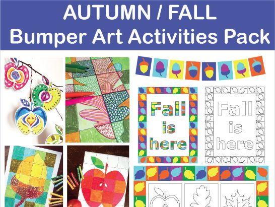 Bumper Autumn/Fall Creative Art Activities and Classroom Decor Pack