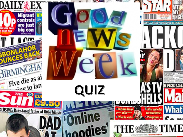 Weekly News Quiz and Puzzle wc 21/9/20