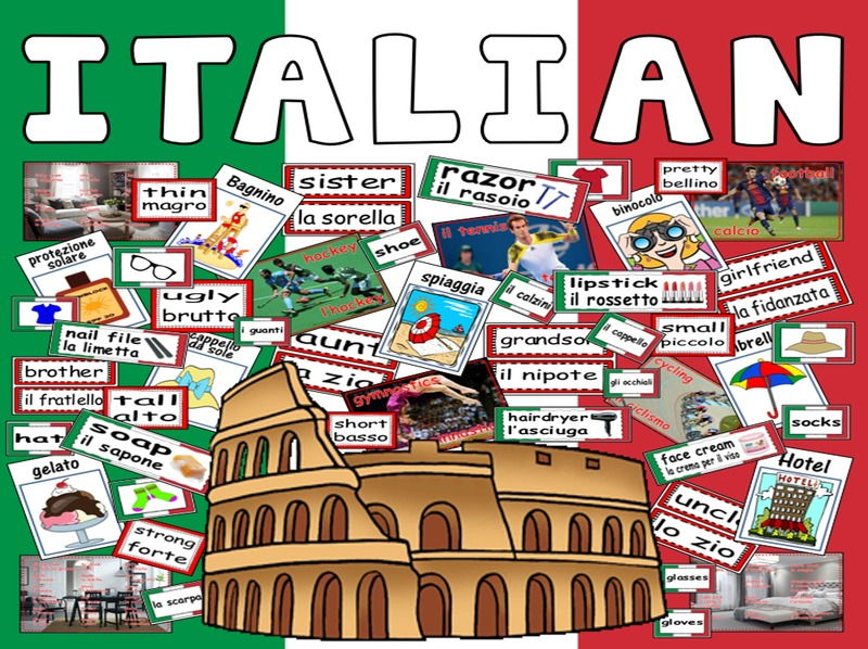 ITALIAN LANGUAGE TEACHING RESOURCES AND DISPLAY