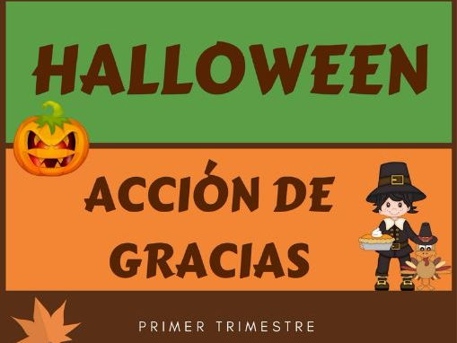 Word walls for Autumn (Halloween, Thanksgiving) - Carteles sobre el otoño (Halloween y Ac. Gracias)