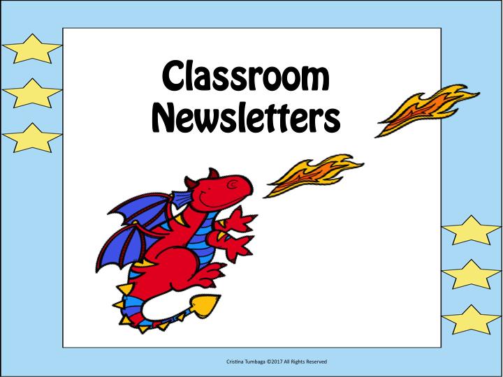 Classroom Newsletters- Freebie