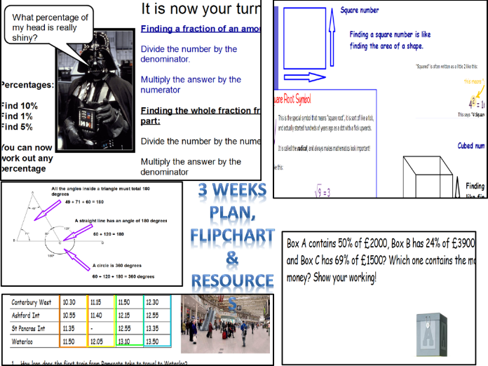 SATS REVISION KS2 Year 6 2017.  3 week plan, flip chart (over 100 pages) and resources. SATS run up.