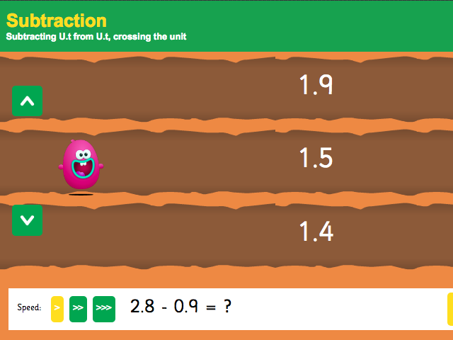 Subtracting with Decimals: Tenths - Interactive Game 3 - KS2 Number