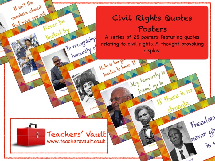 Civil Rights Quotes Posters (Black History Month)