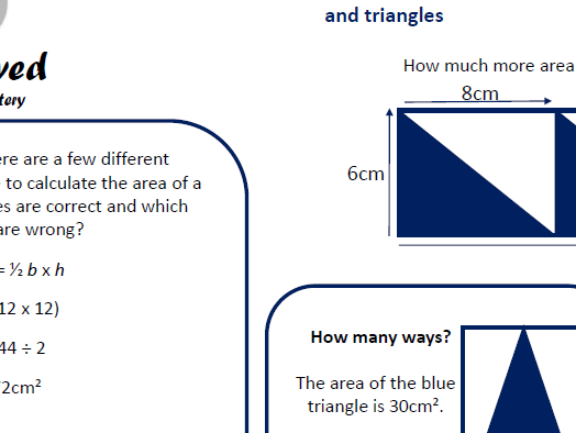 Small Steps to Mastery - Area, perimeter & volume