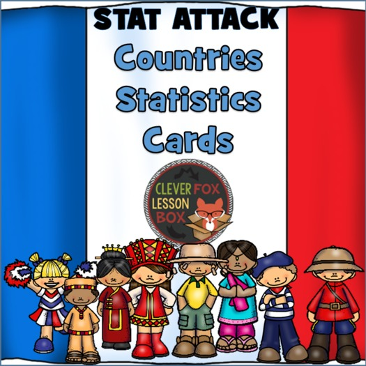 Countries Of The World Printable  Card Game