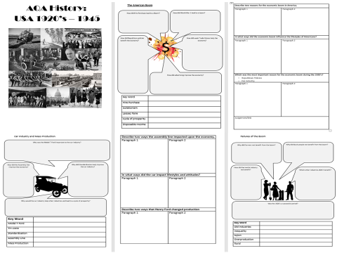 USA: AQA 1920-45 Revision Activity Booklet