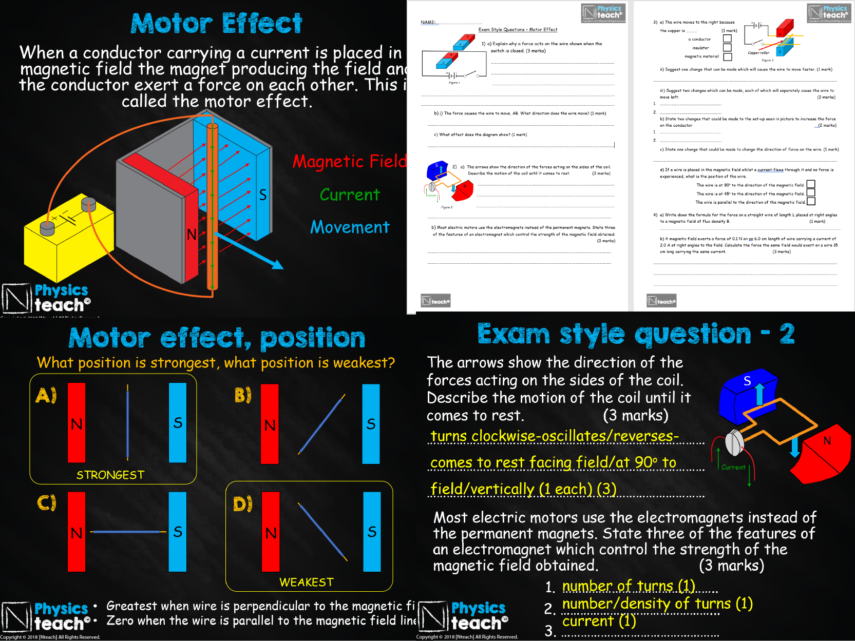 GCSE 9-1 AQA Physics 4.7 - Electromagnetism (whole unit)