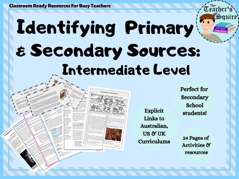Primary and Secondary Sources: Advanced Level