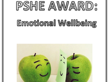 AQA PSHE Award- Emotional Wellbeing- Evidence Booklet