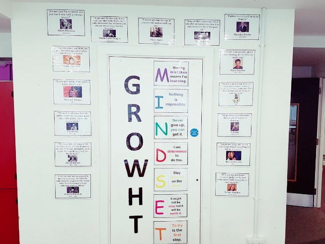 Display: Growth Mindset/ Quotes to inspire resilience