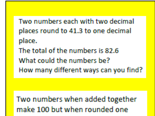 Rounding numbers including decimals Year 6
