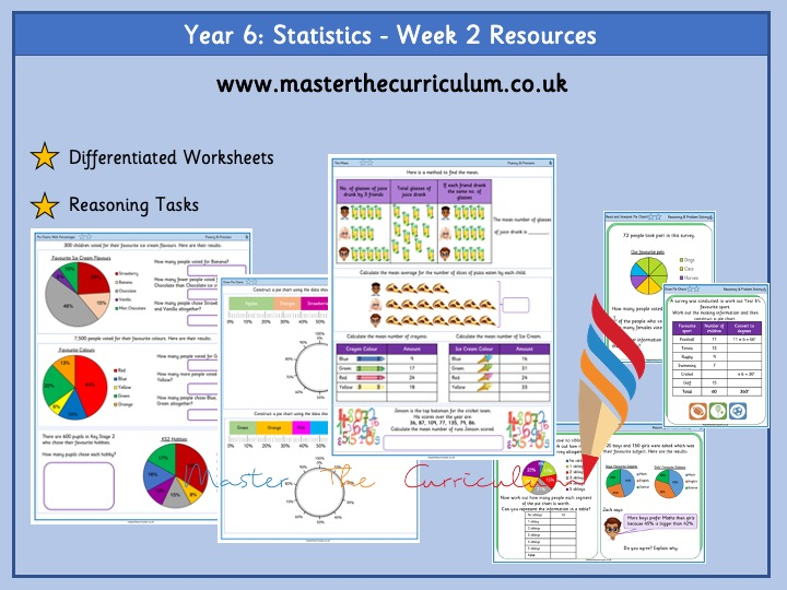 Year 6 - Statistics Week 2- Differentiated Resources White Rose Aligned