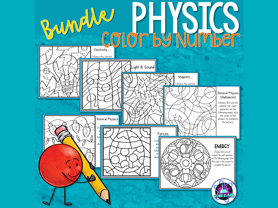 Physics Color by Number Bundle