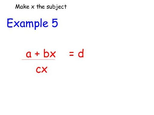 Lesson to teach rearranging formula
