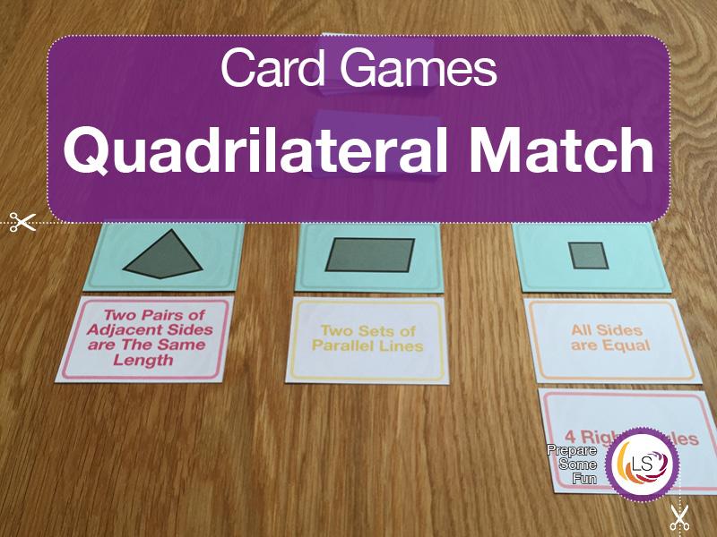 Quadrilateral Match | Card Game