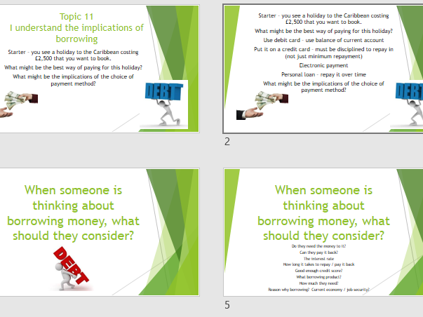 LIBF CEFE Unit 2 Topic 11 The implications of borrowing