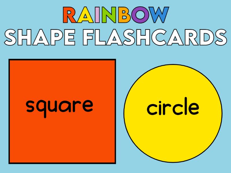Rainbow Borders 2D Flashcards