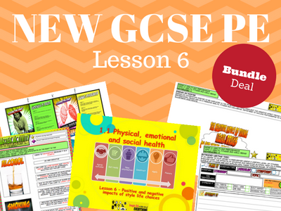 NEW Edexcel GCSE PE Unit 2 - Topic 1 - Lesson 6 BUNDLE PACK