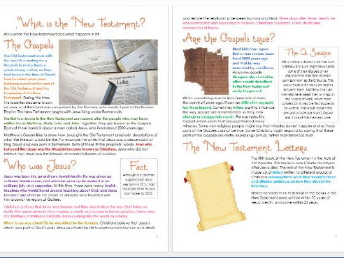 What is the New Testament? Differentiated Activity Sheets