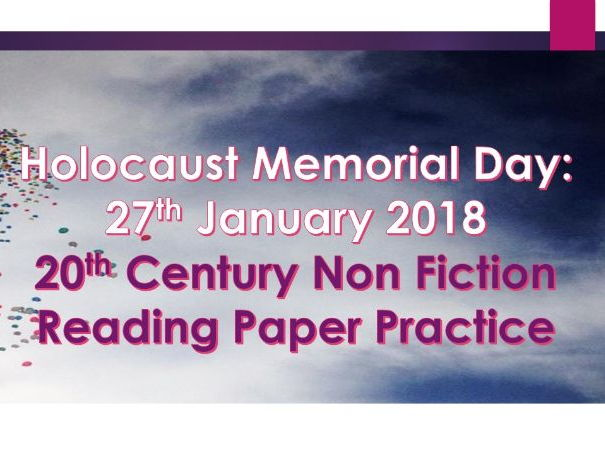 Holocaust: Non Fiction Reading Paper