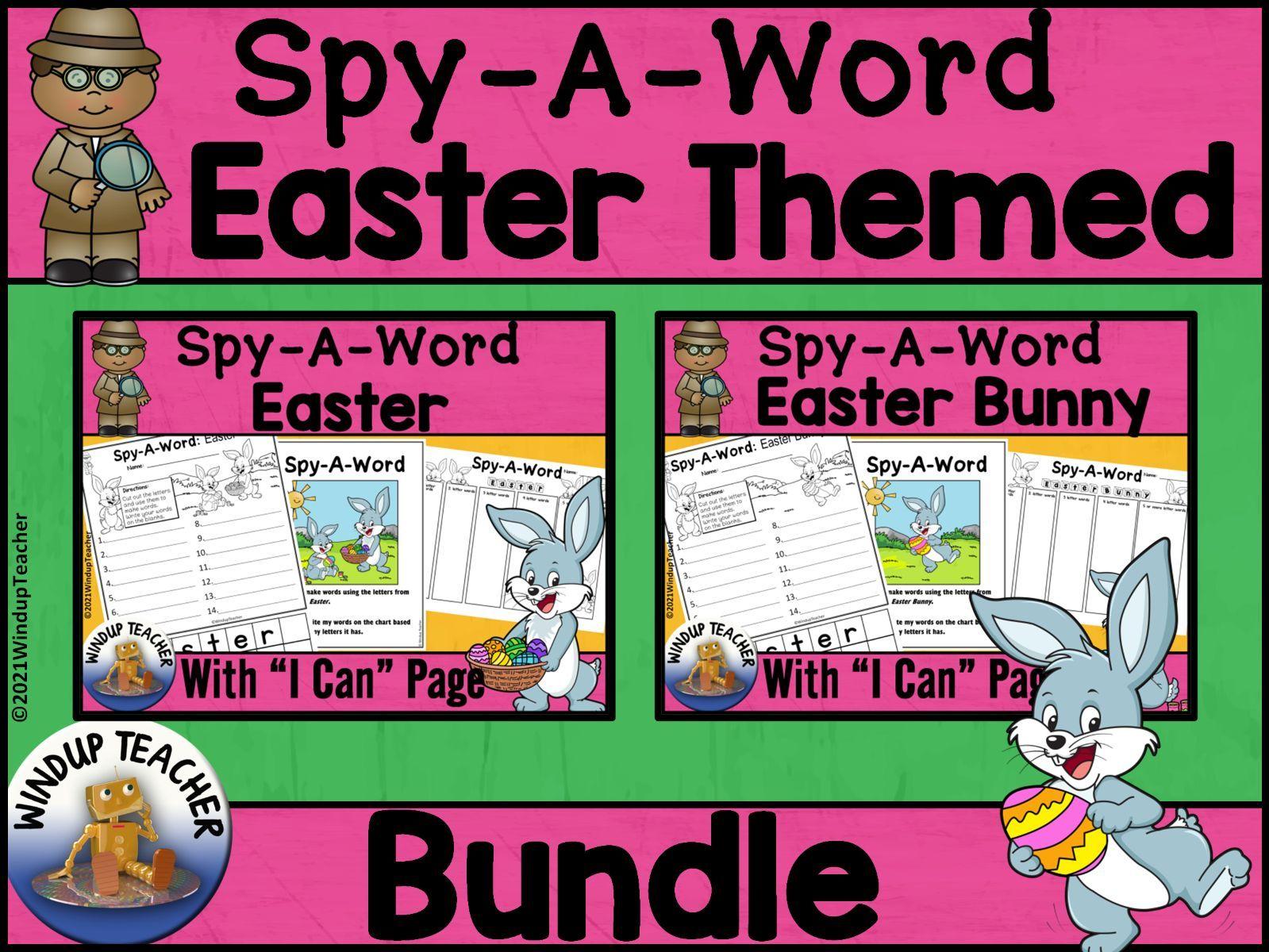 Easter Word Activity BUNDLE