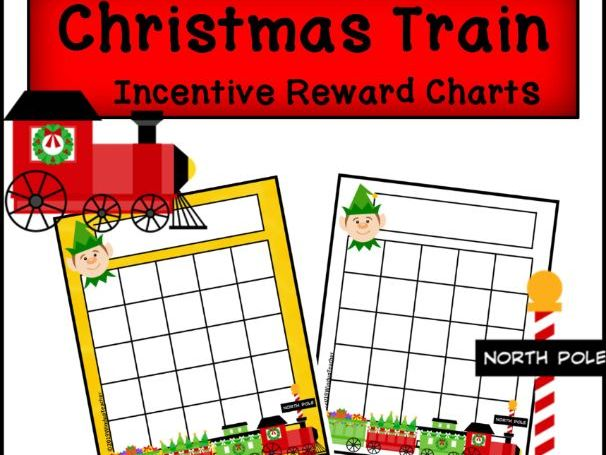 Christmas Train Incentive Reward Sticker Charts