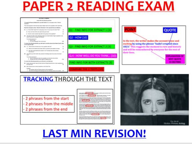 EDUQAS Paper 2 Reading Revision PowerPoint (with video) GCSE English Language