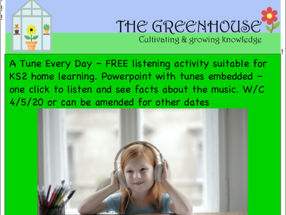 'A tune every day' KS2 listening ppt w/c 4/5/20